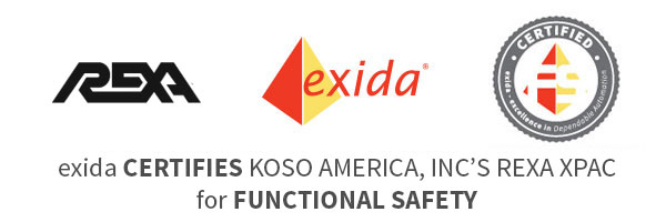 EXIDA CERTIFIES KOSO AMERICA, INC'S REXA XPAC FOR FUNCTIONAL SAFETY