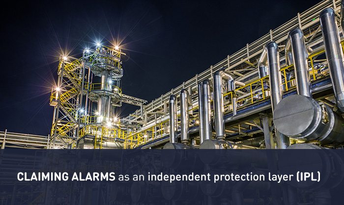 Claiming alarms as an independent protection layer (IPL)
