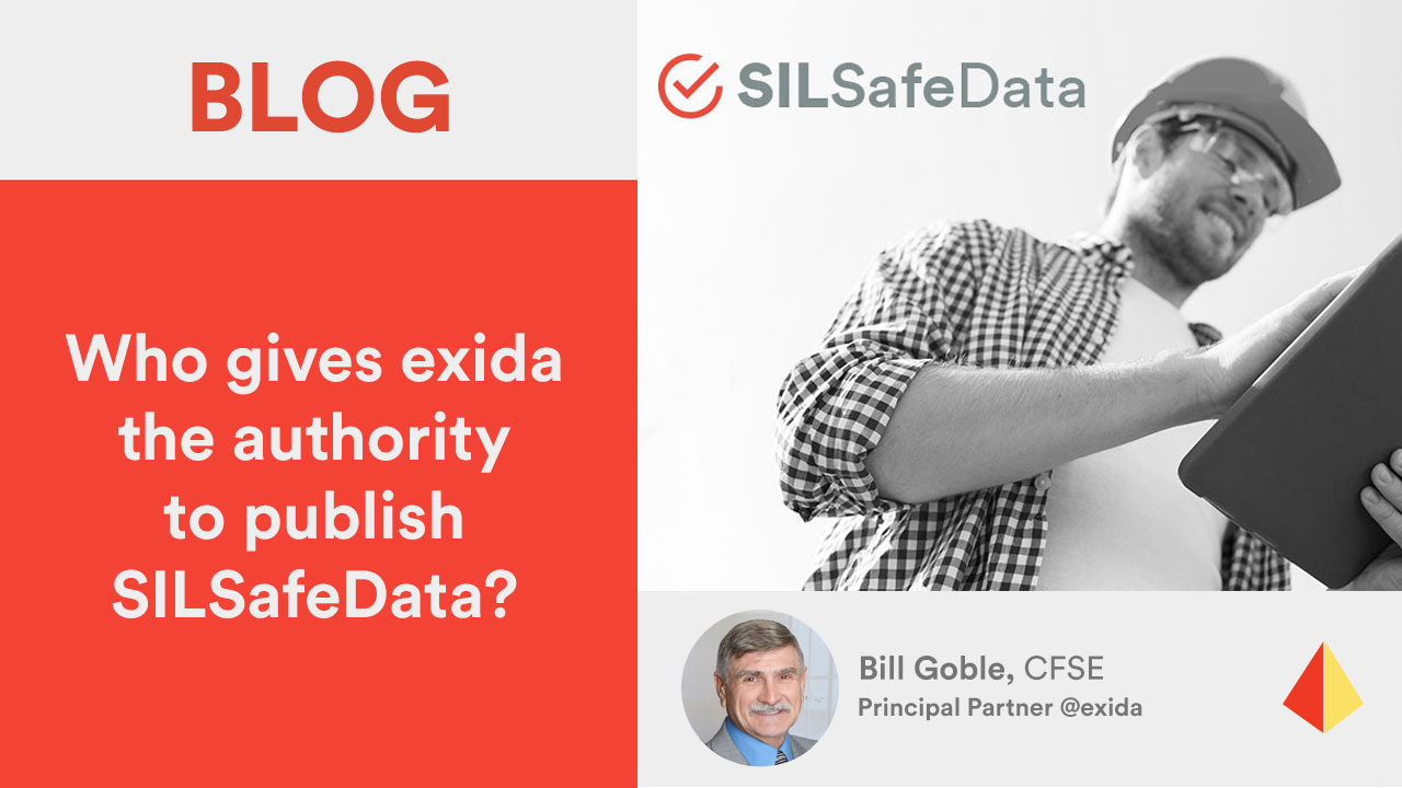 Who gives exida the authority to publish SILSafeData?