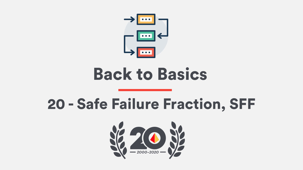 Back to the Basics 20 – Safe Failure Fraction, SFF